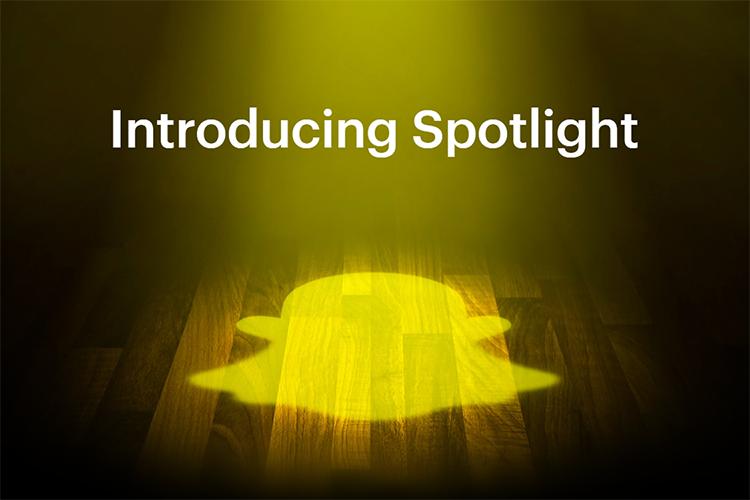 snapchat funzione spotlight in evideza